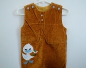 Mustard Yellow Duck Overalls- size 3-6 months - pillager