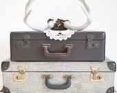 Vintage Leather Suitcase / Photo Prop / Storage Solution / SALE PRICE REDUCED