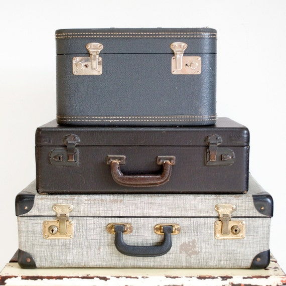 Antique Pewter Blue Traincase