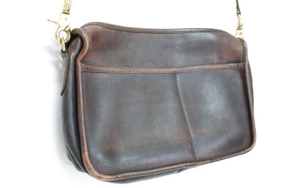 Vintage Dark Brown Leather COACH Purse, 628-488-66
