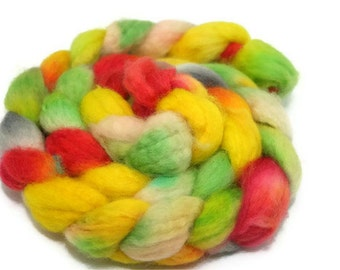 Jaipur - hand dyed superwash BFL roving