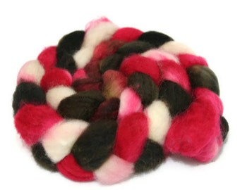 Pump It Up - hand dyed Superwash BFL roving