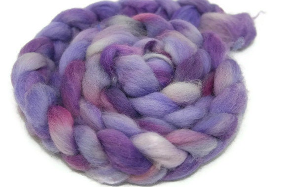 Lilacs - Corriedale Roving