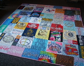 Custom Tshirt Memory Quilt - Full - No Money Down