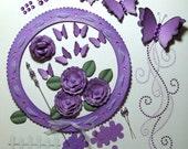 Perfect in Purple Scrapbooking Embellishment Kit