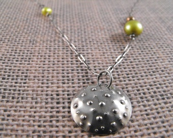 bubbles sterling necklace