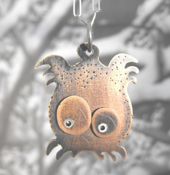 don't ruffle my feathers owl necklace