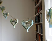 Wedding Decoration Vintage Paper Maps Garland Rustic Heart Decor