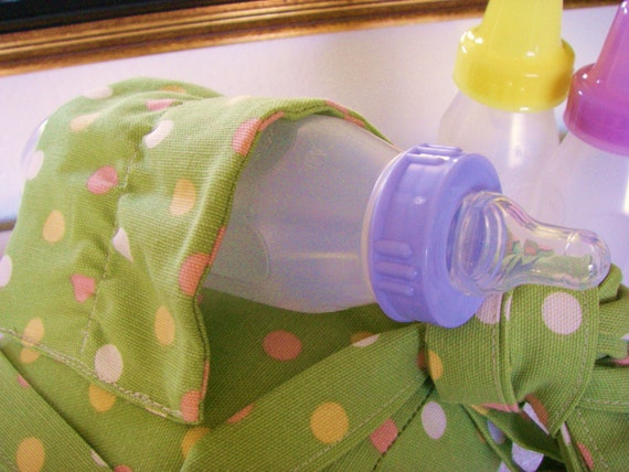 Items similar to Polka Dot Pea Soup baby bottle prop on Etsy