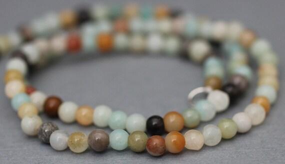 Necklace Single Strand Multi Color Semi-precious Stone