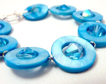 Candied Sky Bracelet - bright blue - neon blue