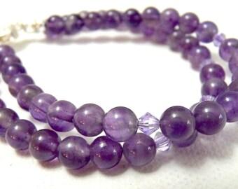 Soft Purple Amethyst 2 Strand Bracelet
