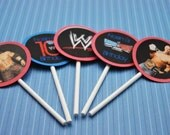 24  WWE cupcake toppers