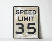 industrial speed limit road sign