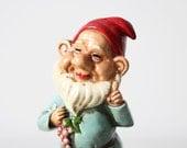 vintage paper machie gnome