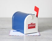 vintage mail box bank toy