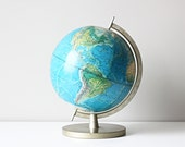 RESERVED vintage school world globe