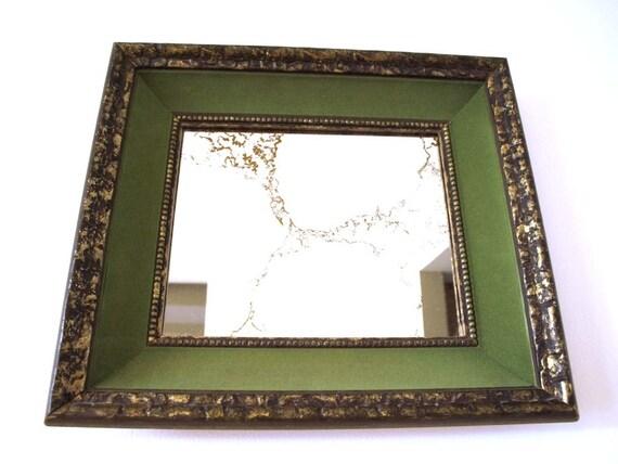 velvet framed mirror