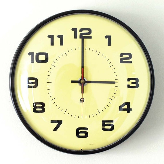 Vintage School Wall Clock By Hruskaa On Etsy