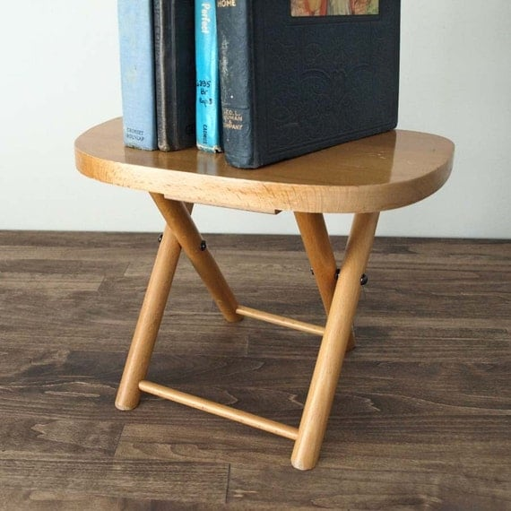 Folding Vintage Stool By Hruskaa On Etsy