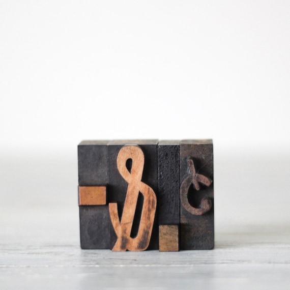 wood letterpress punctuation set