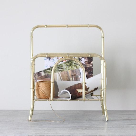 bamboo styled magazine rack