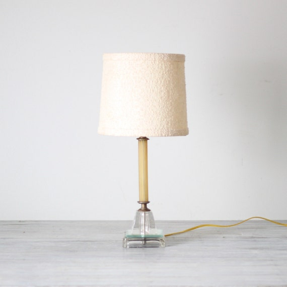 deco style lamp with shade