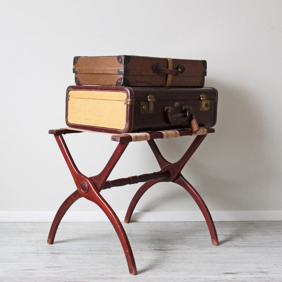 vintage luggage rack stand by HRUSKAA on Etsy