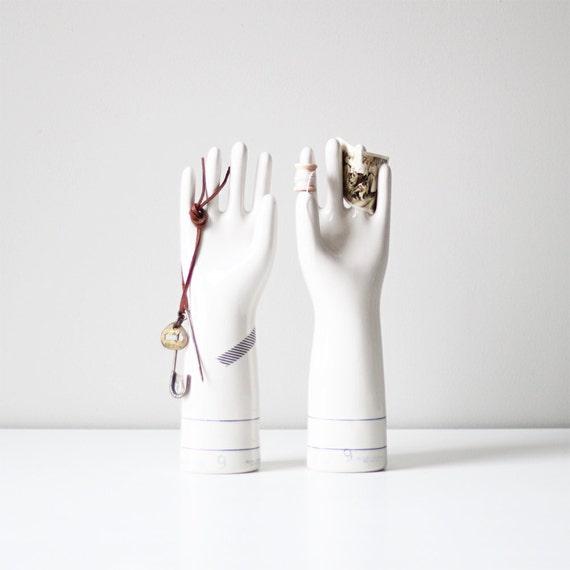 RESERVED industrial porcelain glove mold, set of 2