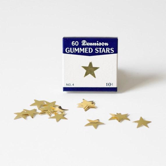 vintage dennison gold stars