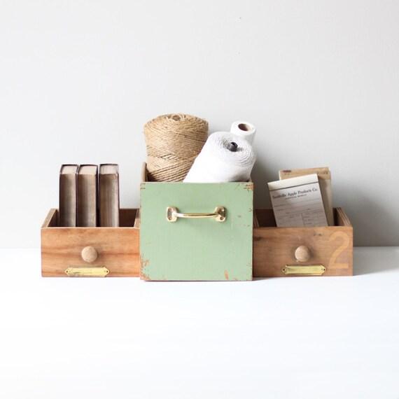 industrial wood drawer set