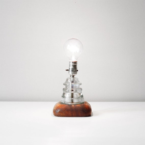 vintage insulator lamp