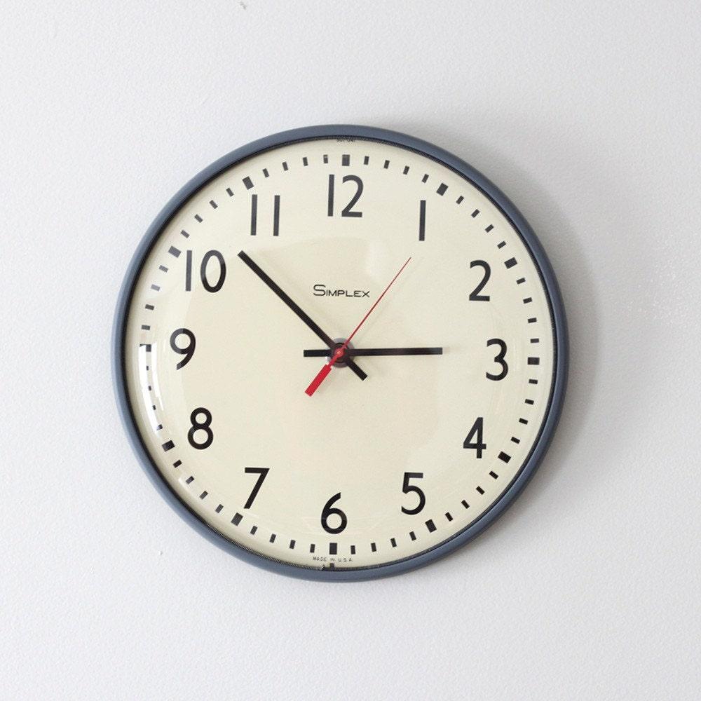 Simplex School Wall Clock By Hruskaa On Etsy