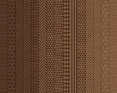 Neutrals: Chocolate Digital Scrapbook Paper Pack - 15 Papers, 12x12, personal and small commercial use