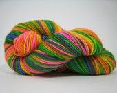 Piper sock yarn, superwash merino 2 ply fingering weight yarn, hand dyed, 450 yards - Spree