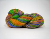 Stella sock yarn, merino cashmere nylon superwash fingering weight, hand dyed, 420 yds - Limonite