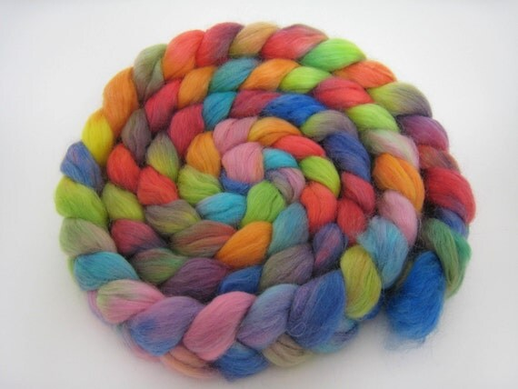 A Beautiful Butterfly, 6 oz Roving for Socks