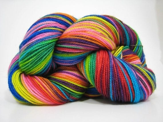 Reserved for Micaela.....Piper sock yarn, superwash merino 2 ply fingering weight yarn, hand dyed, 450 yards - A Beautiful Butterfly