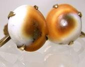 Dainty Operculum Shell Earrings