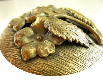 Arts and Crafts Brass Brooch