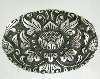 800 Silver Yogya Brooch with Lotus Flower