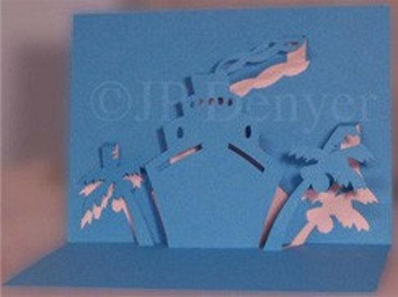 Denyer Designs 3D Pop Up Greeting Cards - Bon Voyage