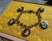 Personalized Photo Charm Bracelet - 5 Double Sided Charms