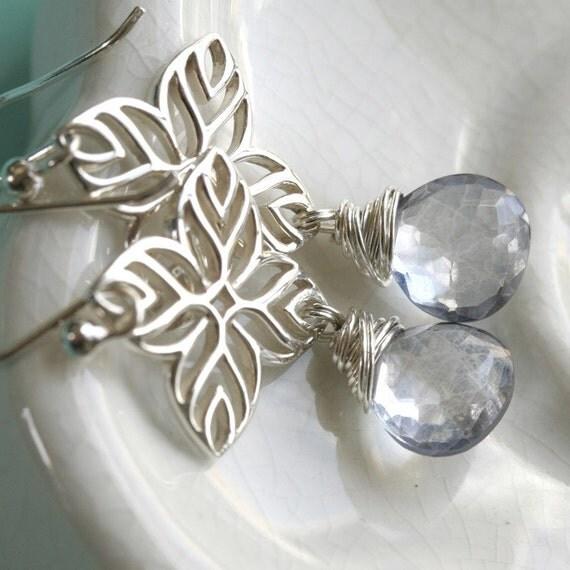 The Explorer Mystic Blue Quartz, Sterling Silver Earrings