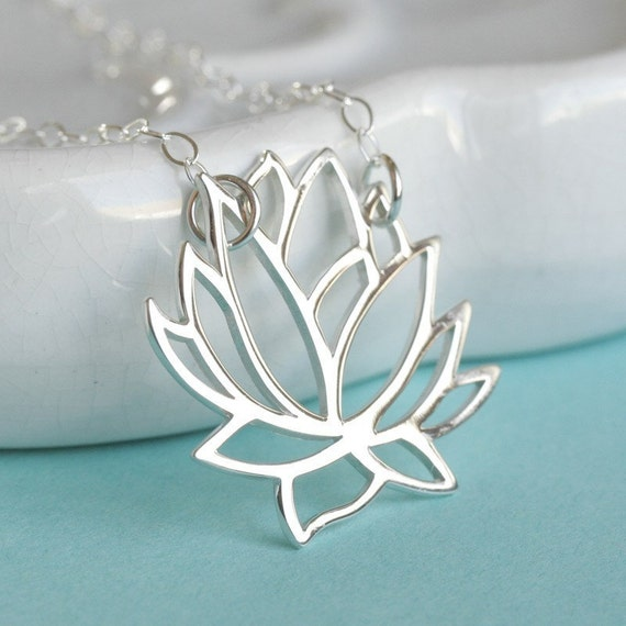 Lotus in Bloom Sterling Silver Necklace