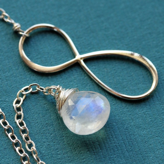 Infinity Moonstone, Sterling Silver Lariat