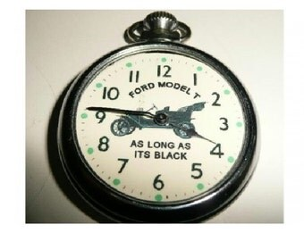 Free Worldwide Tracked Shipping...Old Ford Model T advertising picture pocket watch
