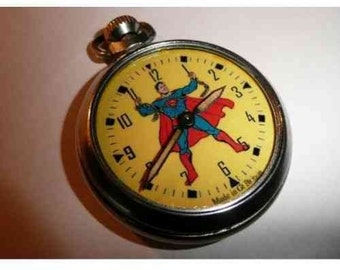 Old Vintage Superman Character dial pocket watch 1960's