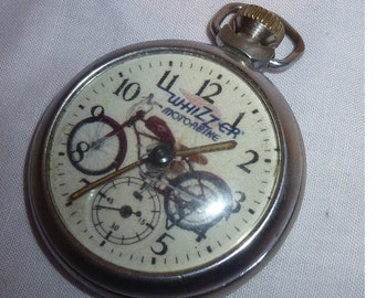 Vintage Advertising Dial WHIZZER MOTORCYCLE Pocket Watch