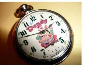 Old Vintage Dandy Desperate Dan Pocket Watch